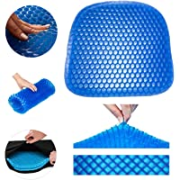 Gel Seat Cushion - Durable, Portable Office Chair Car Seat Cushion Supports Lower Back, Tailbone, Spine, Hips | Promotes Circulation & Good Sitting Posture (Egg Sitter Seat Cushion)