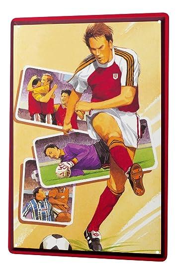 Blechschild Nostalgie Wandschild  Football Spieler Spruch 20X30 cm