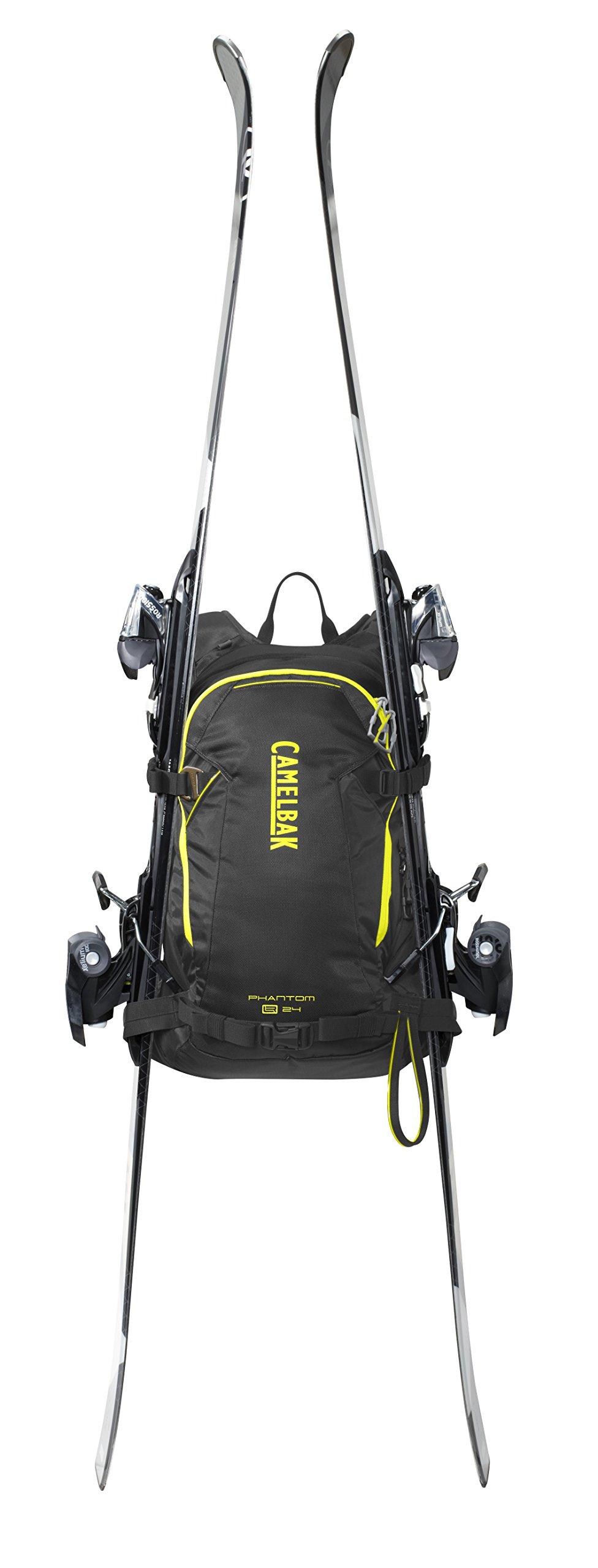 Camelbak Phantom LR 24 Ski Hydration Pack, Black/Sulphur Springs (3L/100oz) by CamelBak (Image #4)