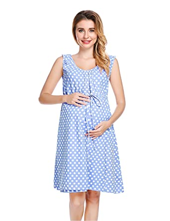 Peauty Maternity Hospital Gown for Labor and Delivery Gown Birthing Gown  Blue S. Roll over image to zoom in b7dd81fbb