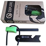 2XPLORE Ignite Glow Magnesium Fire Starter Flint Striker - Glow in the Dark Survival Tool Kit for Outdoor Camping Living Survival …