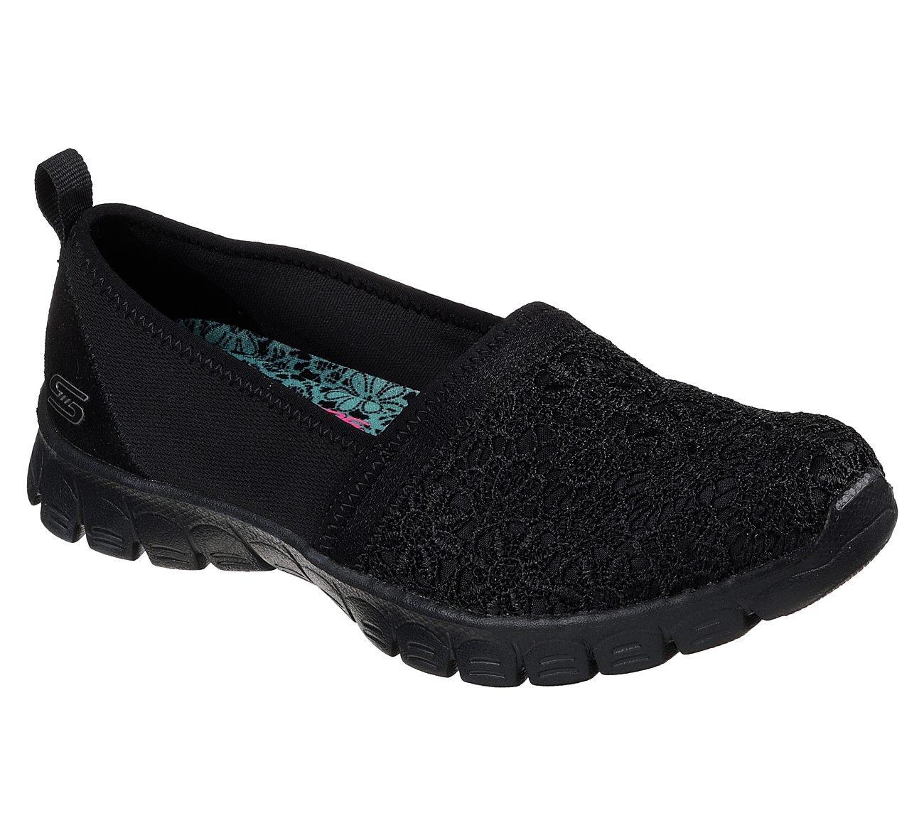 Skechers Womens EZ Flex 3.0 TAKE A Chance Wide Black Black Size 8.5