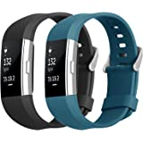 Fitbit Charge 2 Armband, Hanlesi tpu Silikon Einstellbare Ersatz Sport Band für Fitbit Charge 2 HR+ Smartwatch Fitness Band