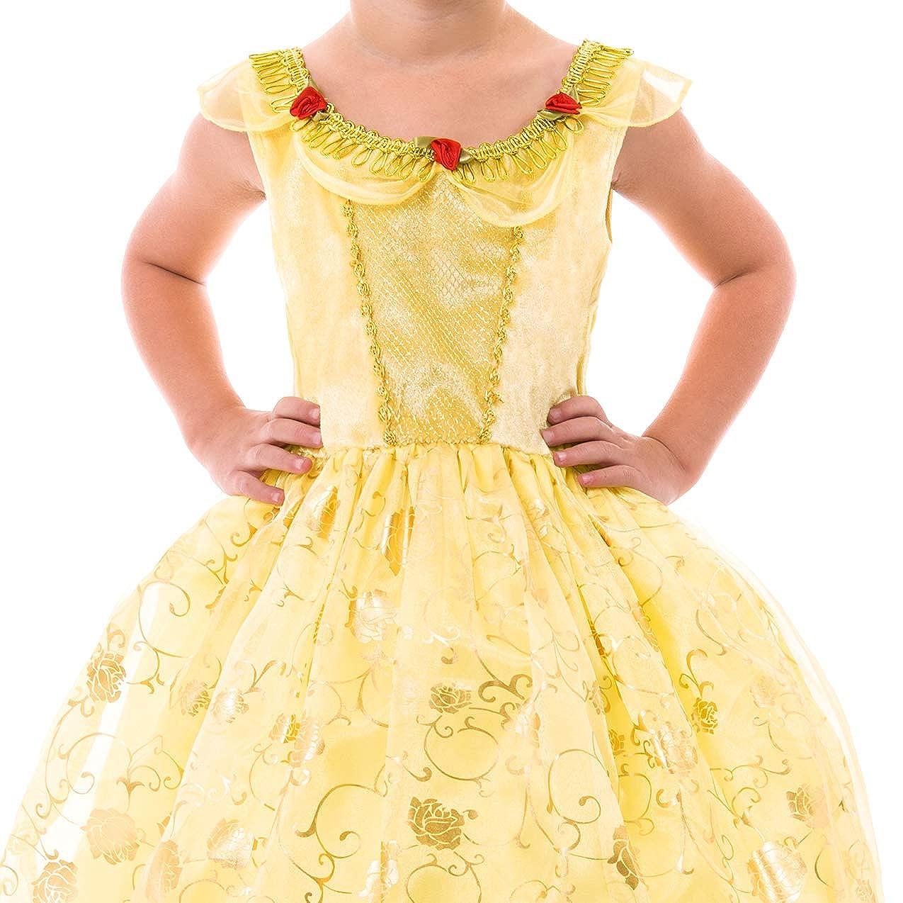 e58bd6ca37 Amazon.com  Yellow Beauty Costume Dress  Toys   Games