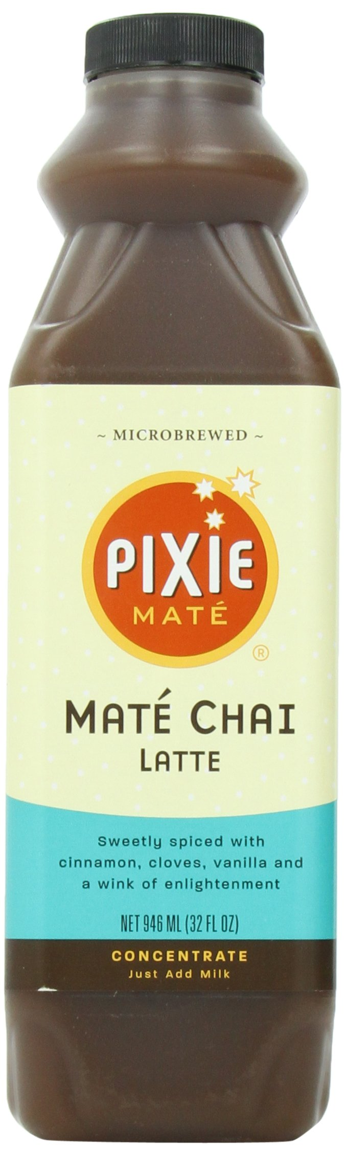 Pixie Mate, Mate Chai Latte, 32-Ounce (Pack of 6)
