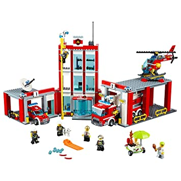 Amazon.com: LEGO CITY Fire Station 60110: Toys & Games