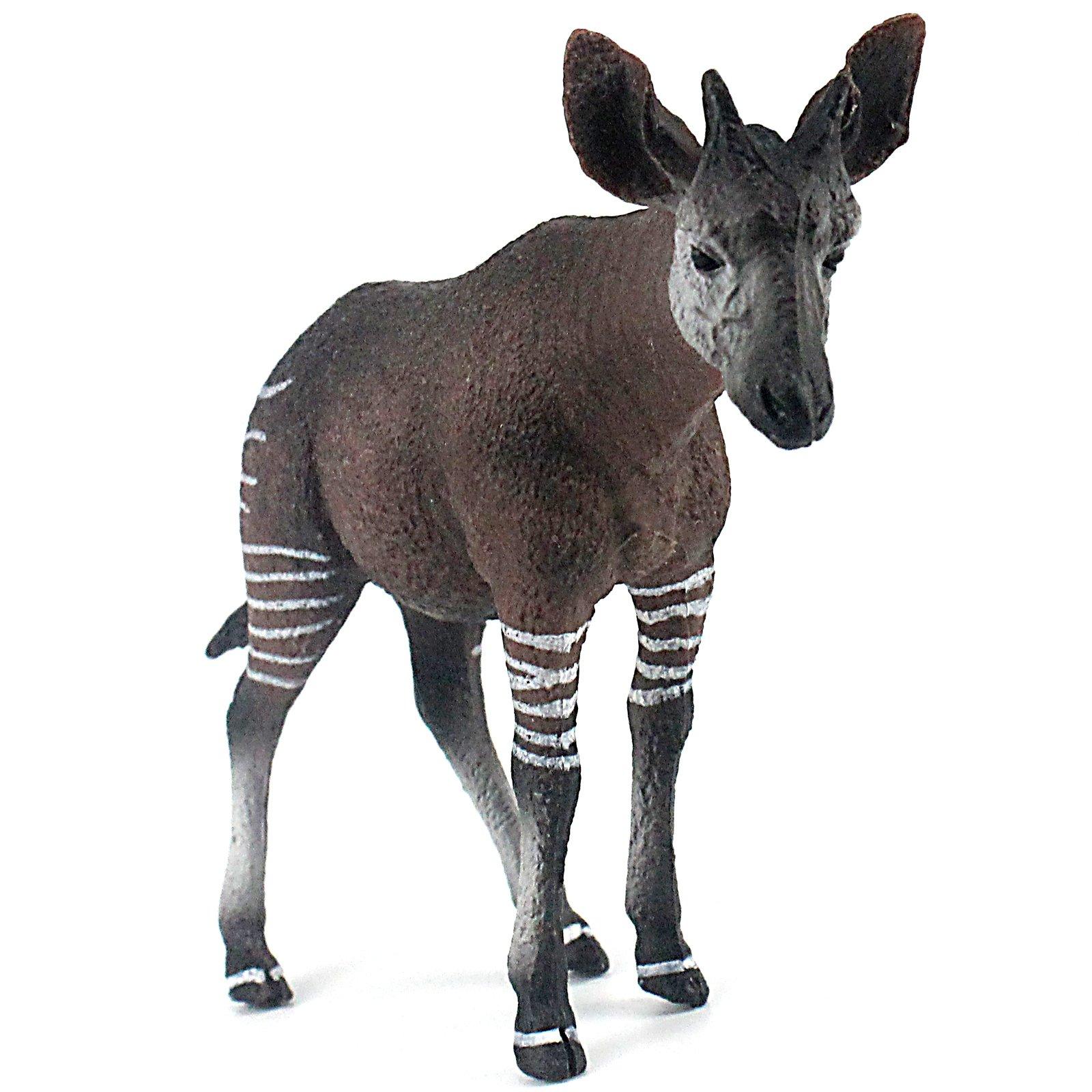 FUNSHOWCASE African Jungle Animals Male Okapi Toy Figure Realistic Plastic Figurine Height 3.5-inch