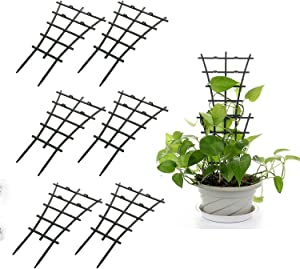 Hapeisy 6Pcs Plant Climbing Trellis Supports, DIY Garden Mini Superimposed Potted Plant Support Plastic Pot Plant Stem Support Wire for Indoor Outdoor Vines Vegetable