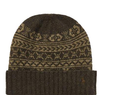 Ralph Polo Lauren Men's Fair Isle Merino Wool Hat at Amazon Men's ...