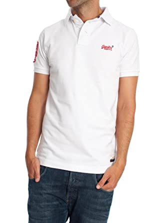 Polo Superdry Cut Collar XXL Blanco: Amazon.es: Ropa y accesorios