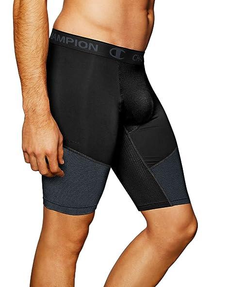 568f6ee482a29 Champion Men's Power Flex Compression Shorts 9-inch at Amazon Men's ...