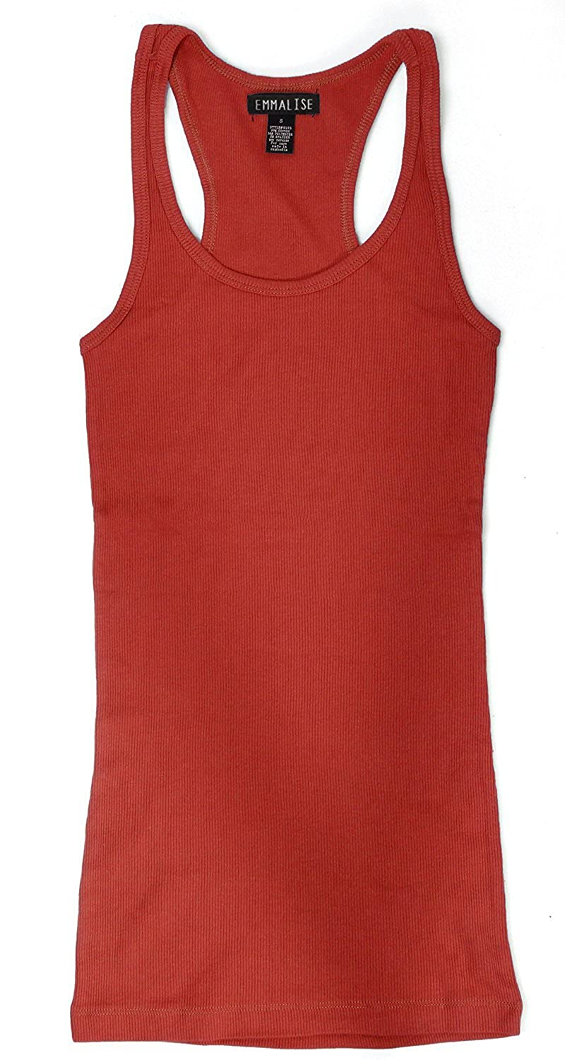 9f60e8d7536fd Active Basic Ribbed Racerback Tank Top Workout Tunic Top - Junior Sizing at  Amazon Women s Clothing store