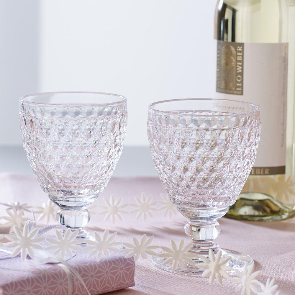 Set of 4 Villeroy /& Boch Boston Clear Crystal Clarets