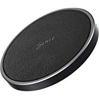 Seneo Qi Certified Aluminum Alloy Leather Wireless Charging Pad