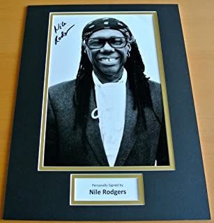 Sportagraphs NILE RODGERS HAND SIGNED AUTOGRAPH 16x12 PHOTO MOUNT DISPLAY CHIC LE FREAK COA