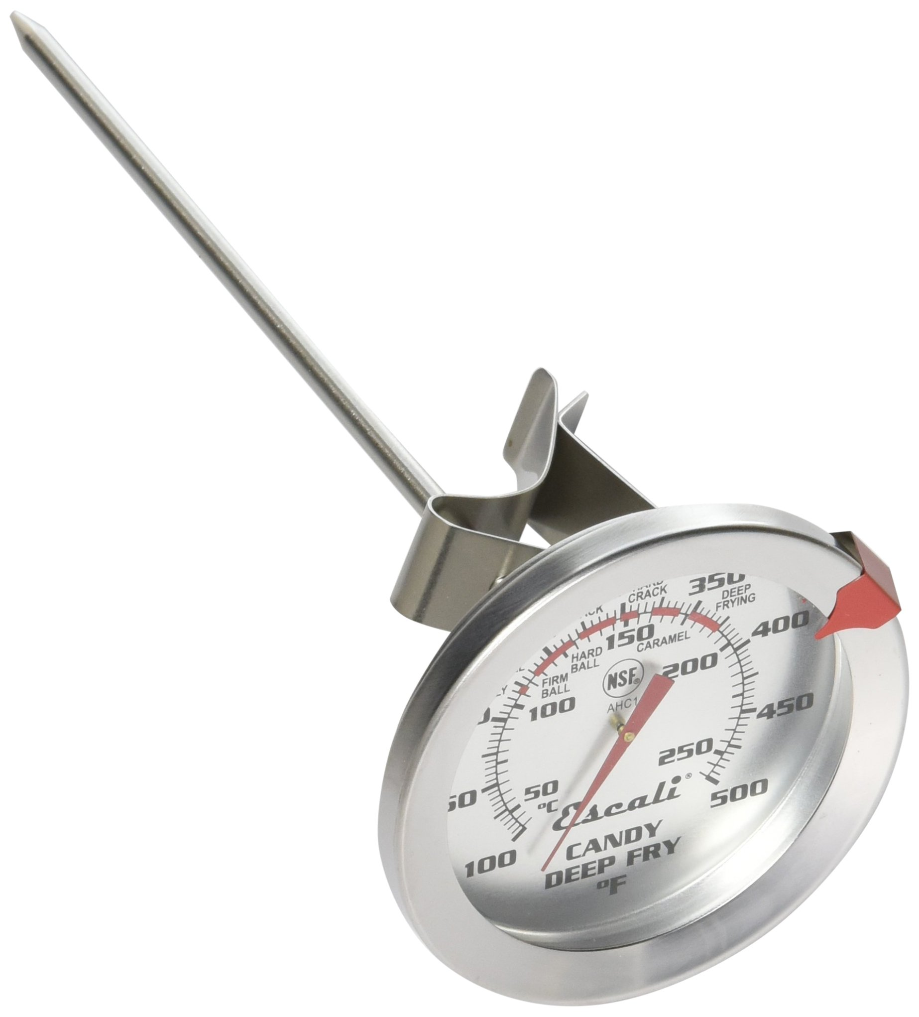 Escali AHC1 NSF Listed Candy/Deep Fry Thermometer with 5.5'' Probe, Silver
