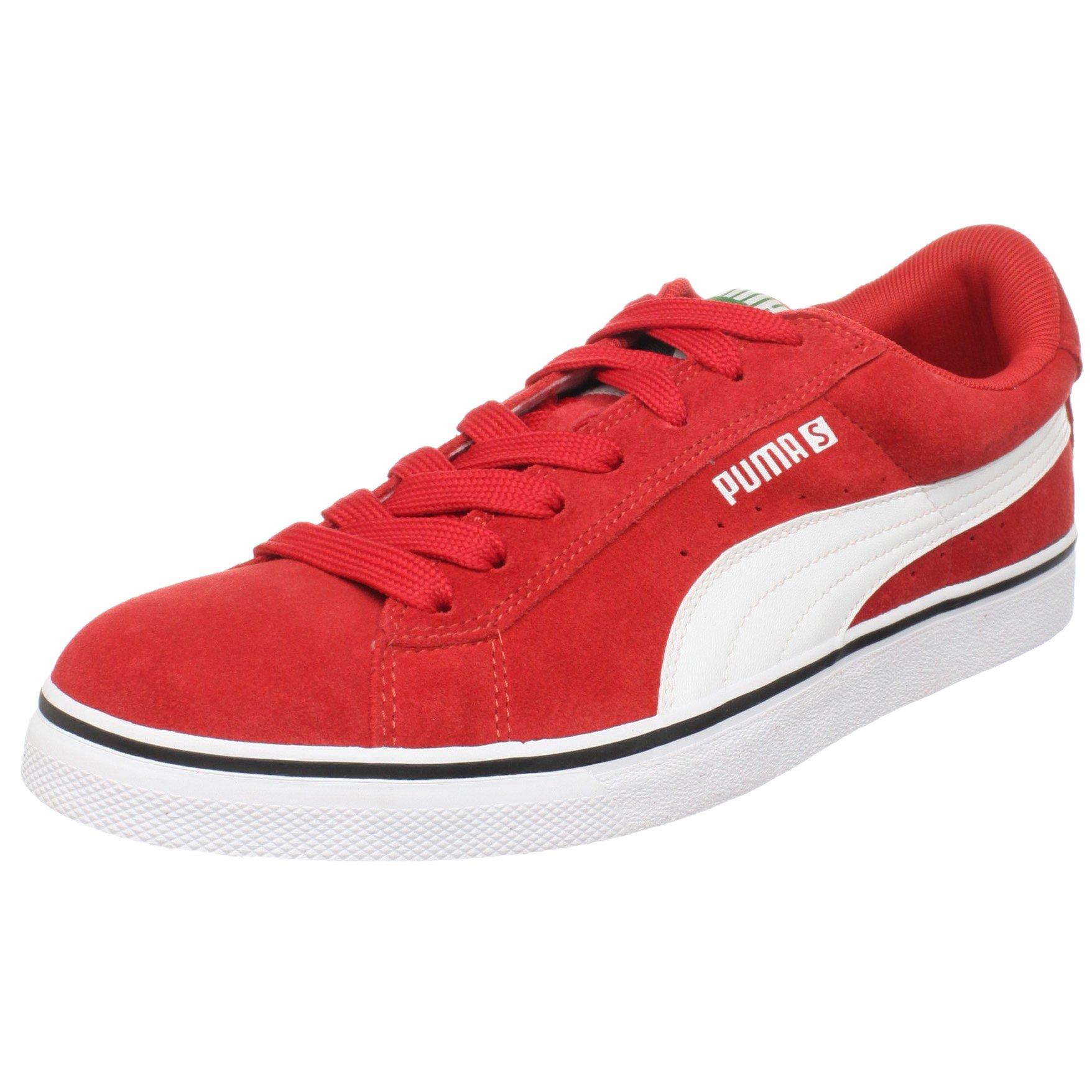 PUMA Leather Vulcanized Sneaker,High Risk Red/White,8 Men's D(M) US/9.5 Women's D(M) US