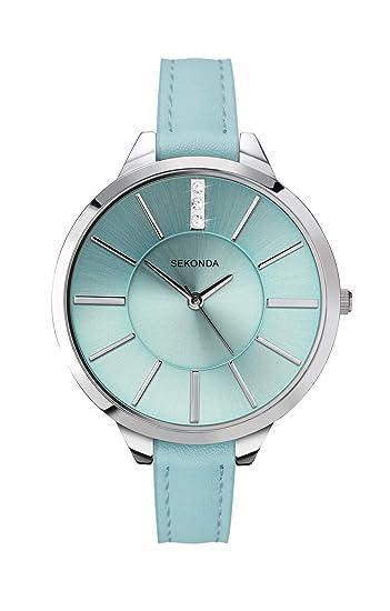 Sekonda Editions - Reloj para mujer, esfera azul, correa azul 2712