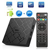 TV Box Android 7.1 - LIVEBOX Smart TV Box Amlogic S905W Quad Core, 2GB RAM & 16GB ROM, 4K*2K UHD H.265, HDMI, USB*2, WiFi Media Player, Android Set-Top Box