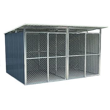 Habit Box con 2 jaulas Caseta para perros Animales de acero galvanizado Charlie C: Amazon.es: Jardín