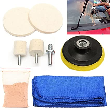 70g Cerium Oxide Windscreen Scratch Remover Glass Polishing Kit Pad Wheel Tools Abrasive Tools