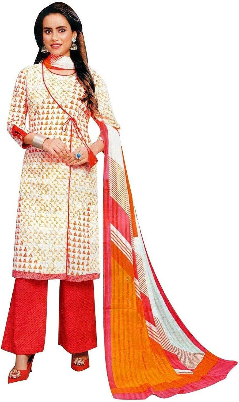 ladyline Over item handling ☆ Premium Special price Pure Cotton Ethnic Salwar Womens Printed Kameez