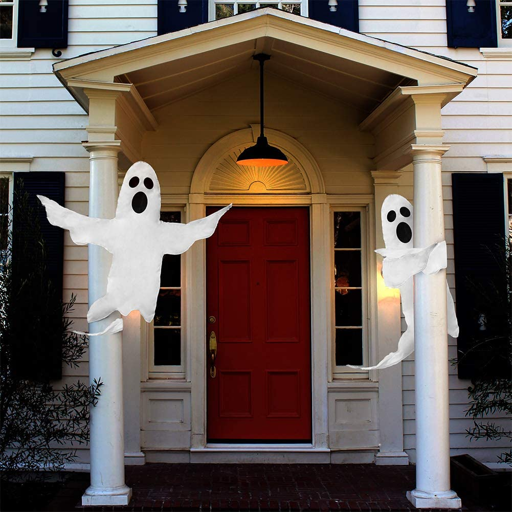 "CCINEE Peek A Boo Hanging Ghost 50"" X 53"" Large Spooky Outdoor Decoration for Halloween Party Lawn Patio Haunted House Props Supply"