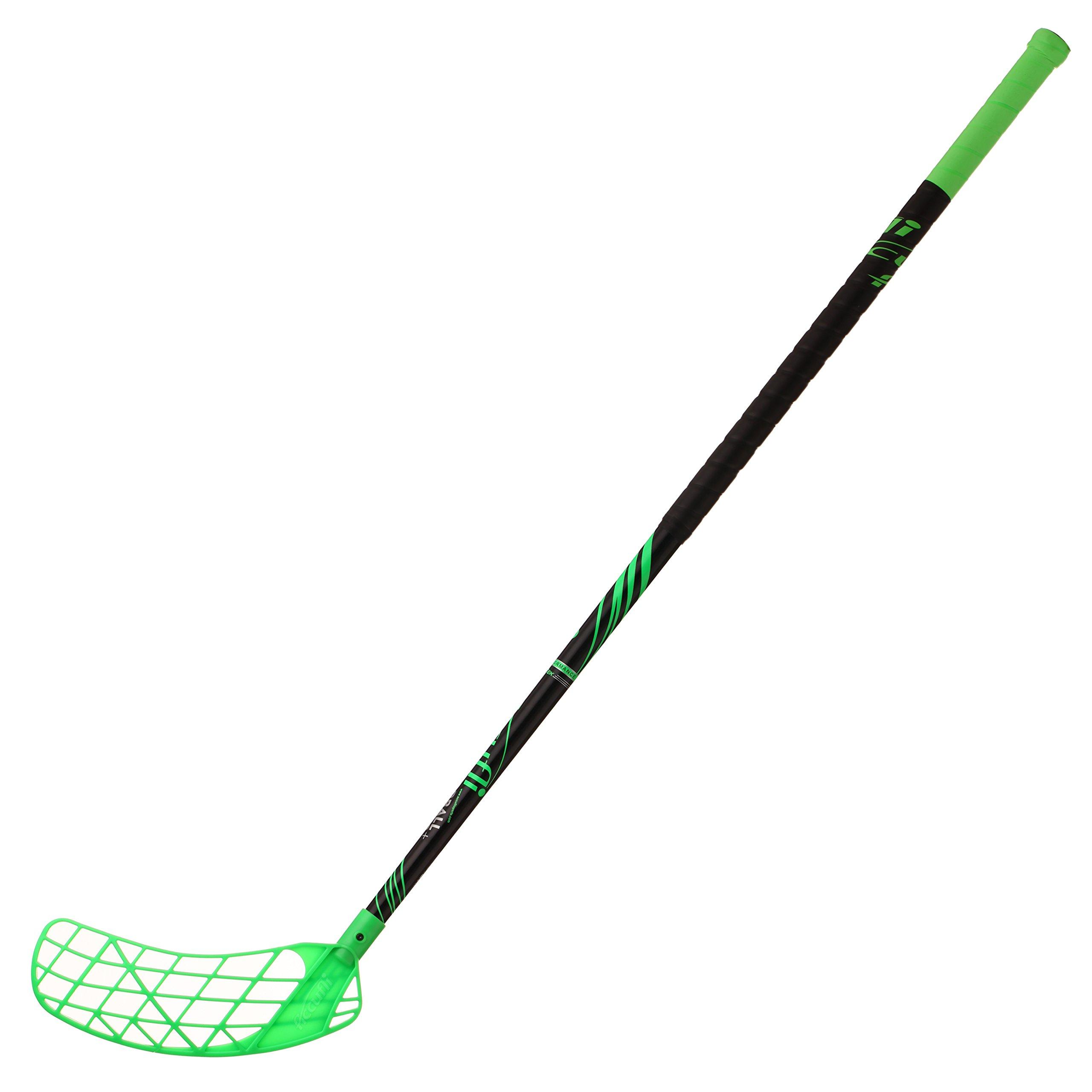 ACCUFLI Floorball Stick AirTek A90 Left 40inch Curved Blade (Green)