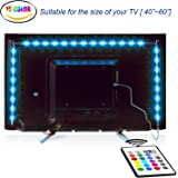 LED TV Backlight, Maylit 2M/6.56ft Neon Accent LED Lights Strips For 40 To 60 IN HDTV Neon Light Bias lighting with Remote, USB LED Strips TV Backlight
