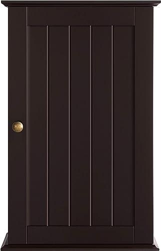 go2buy Wooden Bathroom Wall Mounted Cabinet Toilet Medicine Storage Organizer Single Door