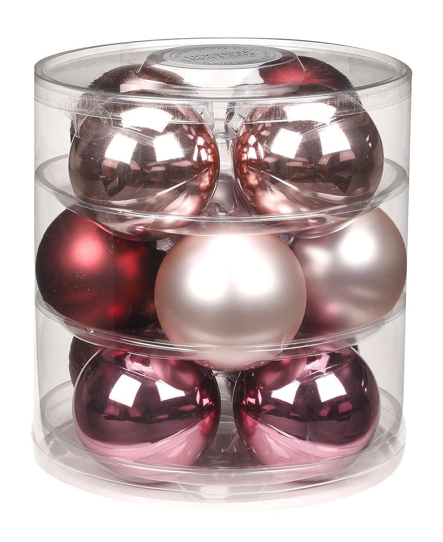 9 Stk Christbaumkugeln Glas 90mm Weihnachtskugeln