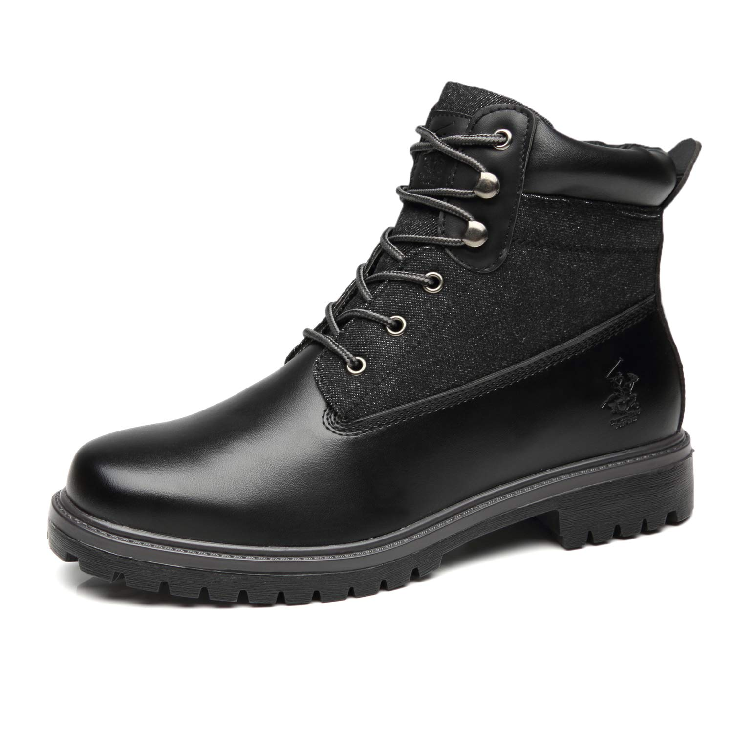 Beverly Hills Polo Club Men's Winter Boots Casual Comfortable Outdoor Leather Lace Up Snow Boots for Men by Beverly Hills Polo Club