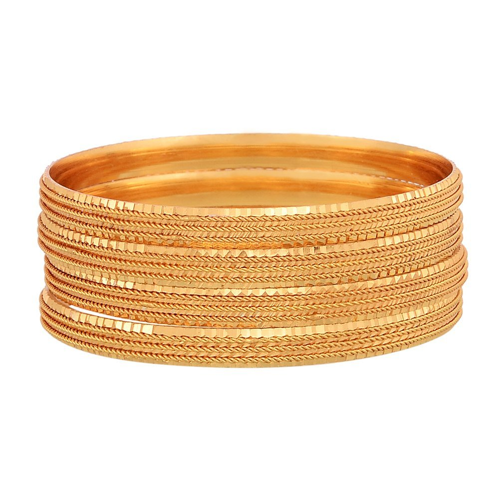 Zeneme Traditional Gold Plated Designer Bangles Jewellery