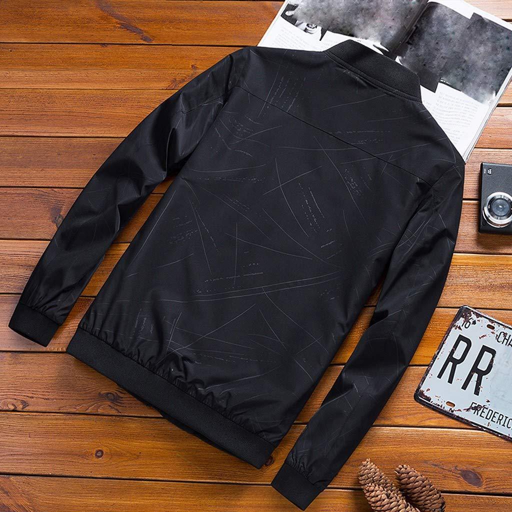 Veste Bomber Homme Automne Hiver Mode D/écontract/ée Pure Color Bear Veste Veste Zipper Outwear