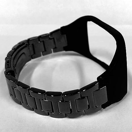 Compatible with Samsung Gear S Correa de banda de metal de acero inoxidable pulsera de repuesto para Samsung Galaxy Gear S SM-R750 reloj inteligente ...