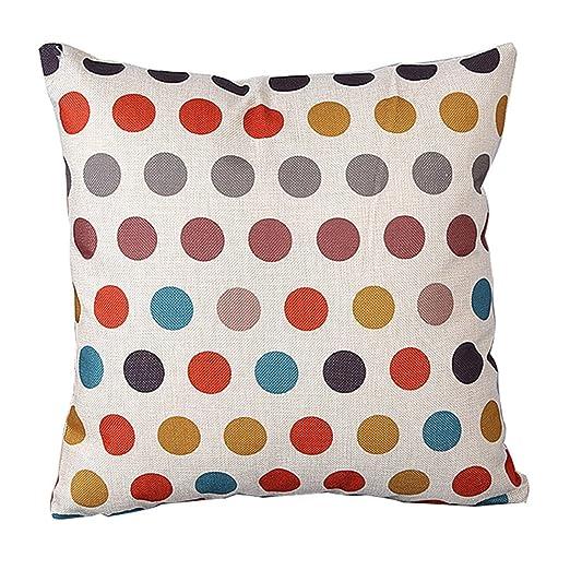 zhouba moda patrón geométrico de lino de cojín manta funda de almohada sofá decoración para el hogar cubierta, Lino, #6, talla única