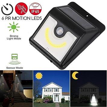 bescita energía Solar Sensor de movimiento PIR lámpara de pared al aire libre impermeable lámpara de