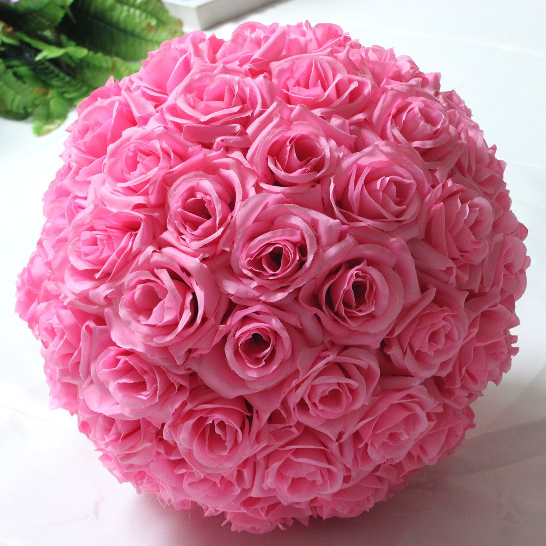 Amazon.com: Hanging Decorative Flower Ball Centerpieces Silk Rose ...