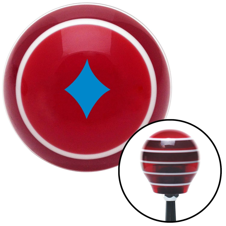 American Shifter 273686 Shift Knob Blue Diamonds Red Stripe with M16 x 1.5 Insert