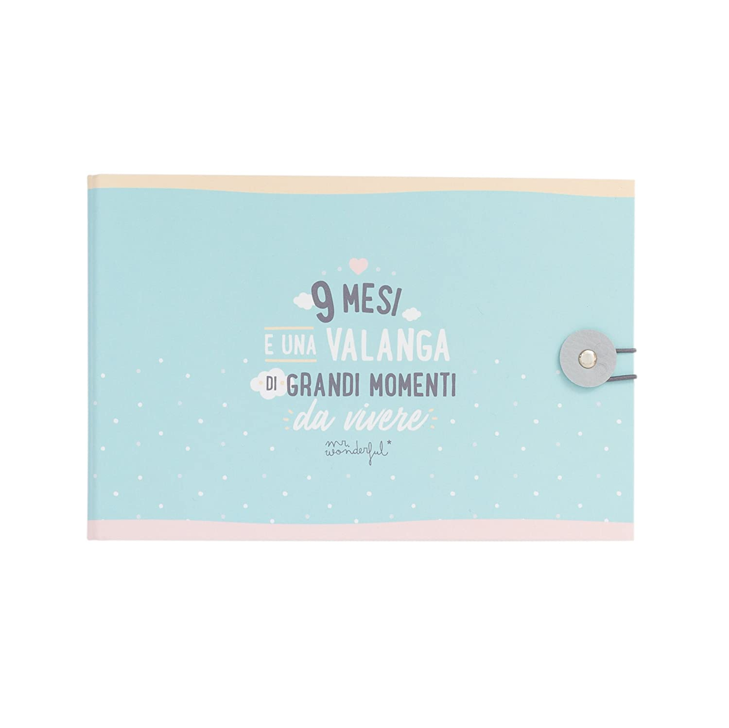 Mr. Wonderful Album-9 Mesi e Una Valanga di Grandi Momenti da Vivere,, 23 x 4 x 15 cm WOA09123IT