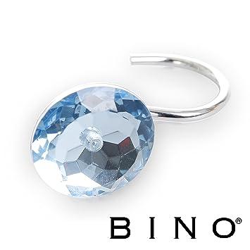 BINO U0027Crystalu0027 Shower Curtain Hooks, Light Blue, ...