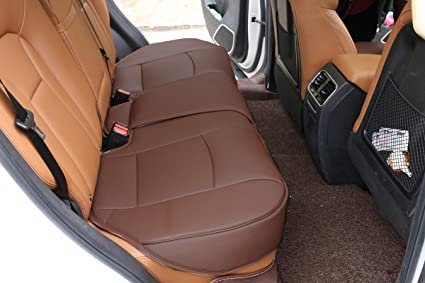 EDEALYN Single Seat Without Backrest PU Leather Bench Covers Car Cover
