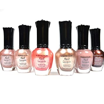 Amazon.com : Kleancolor Nail Polish Natural Nude Beige Colors Lot of ...