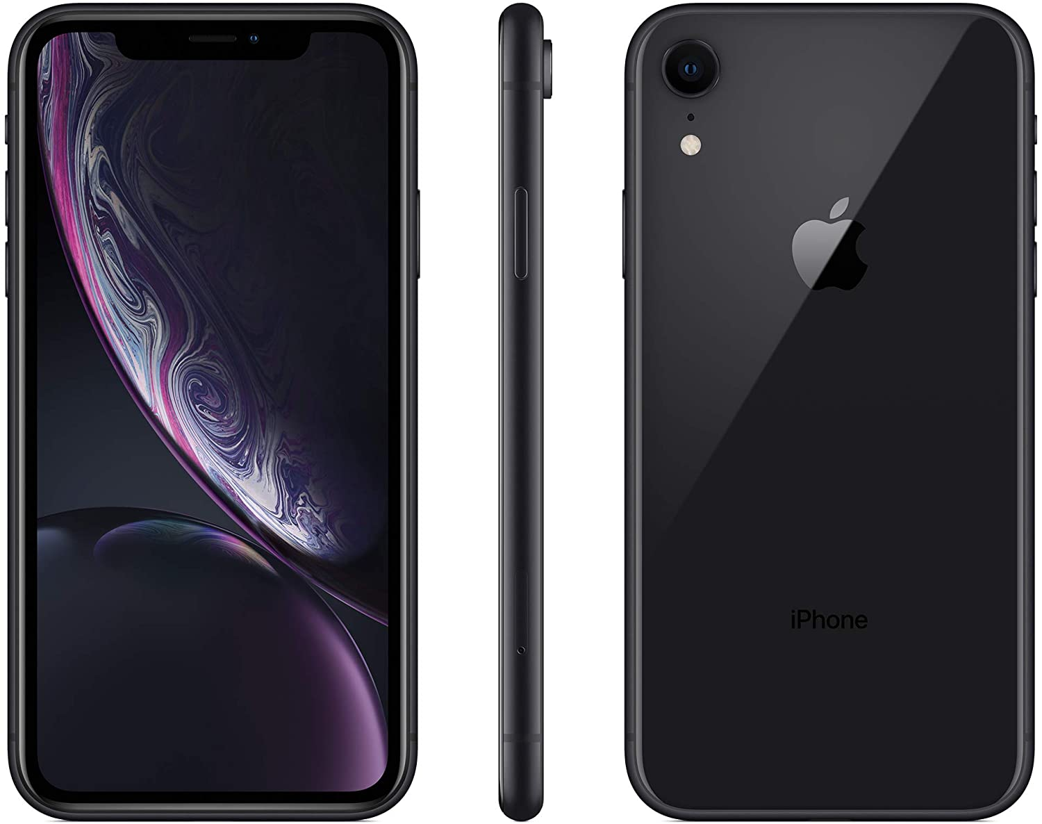 Apple iPhone XR, AT&T, 128GB - Black (Renewed)