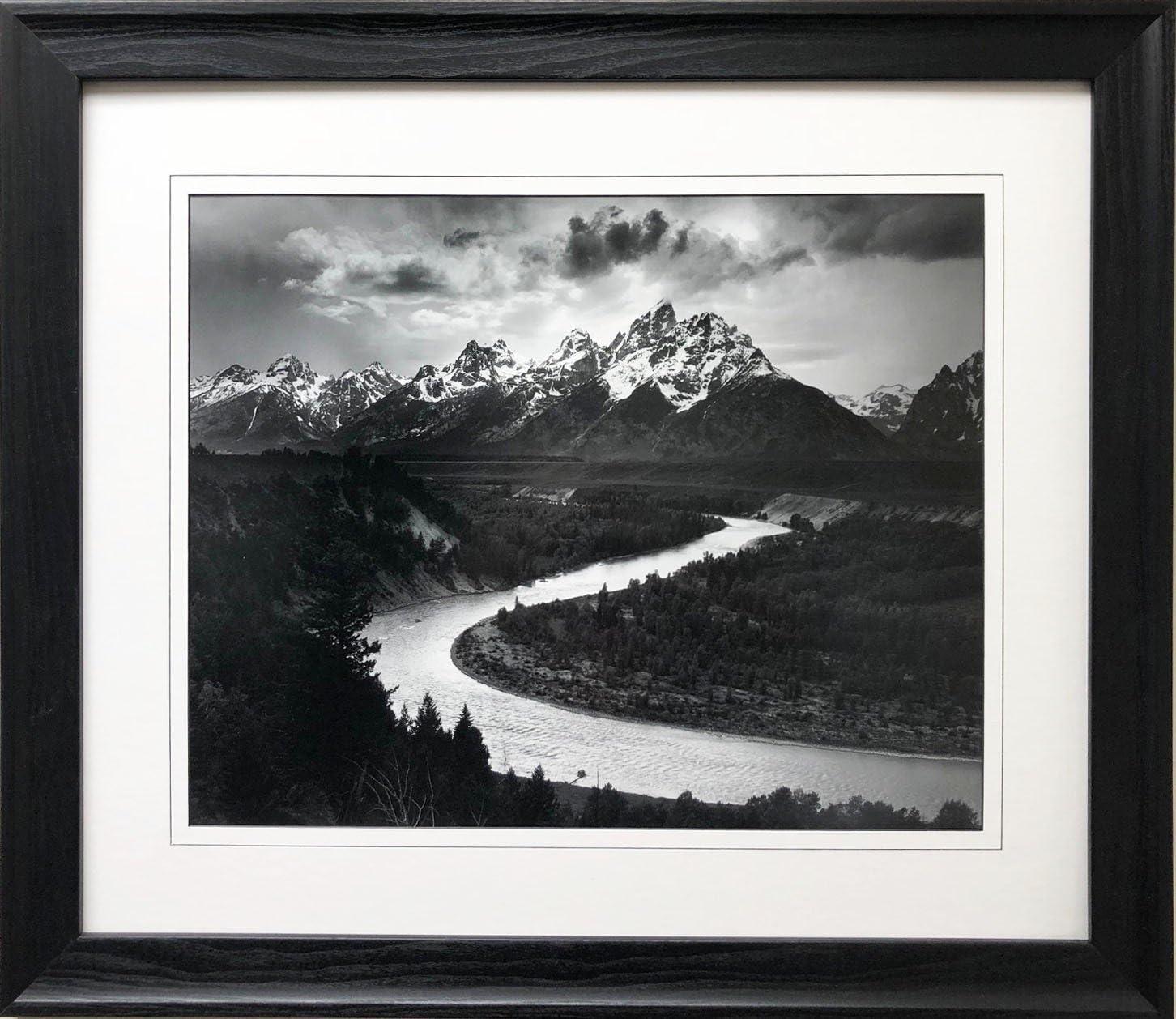 Ansel Adams B//W Photo The Tetons Snake River #2 Wall Picture 8x10 Art Print