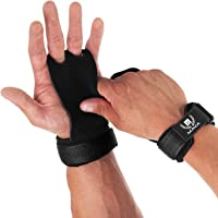 Mava Sports Leather Hand Grips with Wrist Support - Pull Ups Gloves Great for Cross Training, WOD, Deadlifts, Workout…