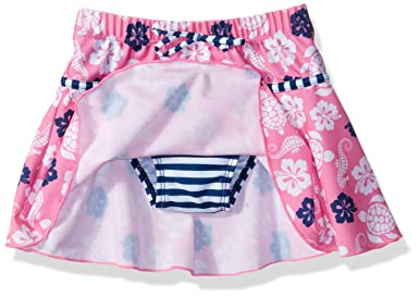 ebb53f1bba Amazon.com: Flap Happy Girls' UPF 50+ Swim Skirt with Built in Bikini Brief:  Clothing