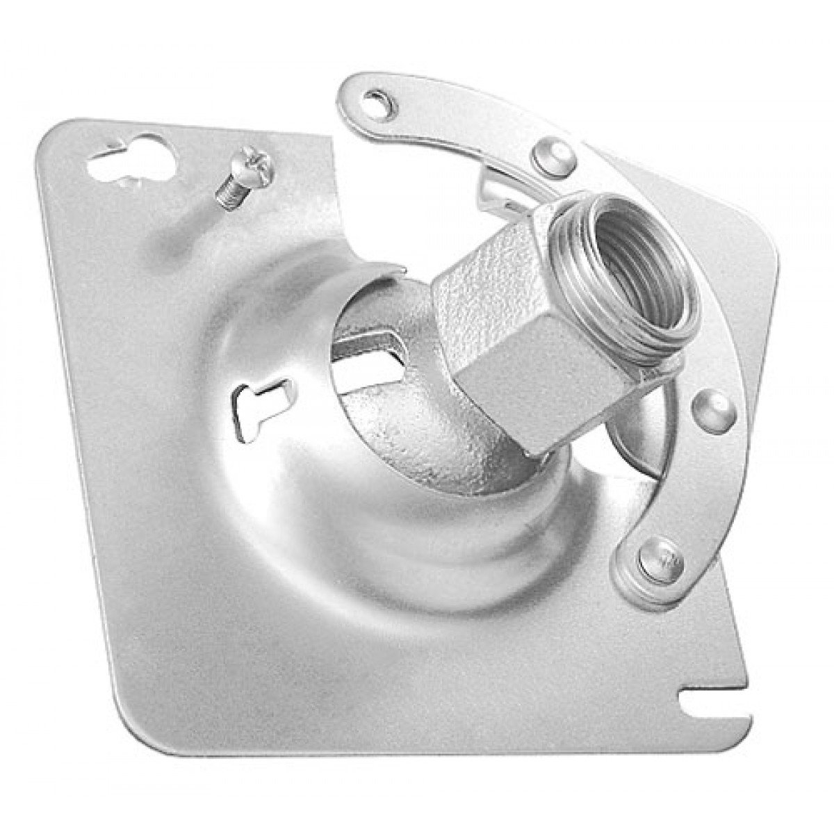 2 Pcs, Hands Free 4 In. Square Box Swivel Hanger for 1/2 In. Or 3/4 In. Pipe, Zinc Plated Steel to Hang Light Fixtures, Security Cameras, Speakers & Electrical/Electronic Devices