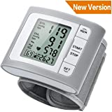 Blood Pressure Monitor, ATMOKO Wrist Blood Pressure Monitor for Home Use with Large Cuff (13.5cm-21.5cm),One-Key Easy Operation with 60 Measurement Memory 3 Year Warranty