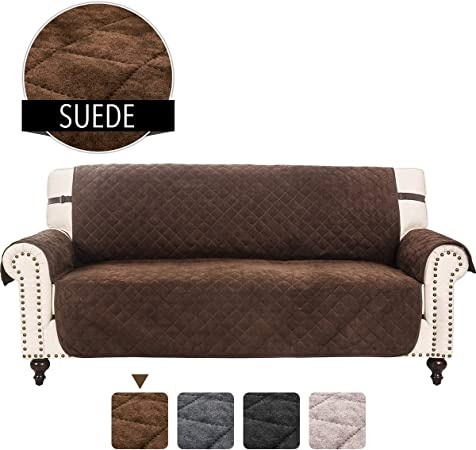 RHF Faux Suede Sofa Cover, Couch Covers for 3 Cushion Couch, Couch Cover, Sofa Covers for Living Room,Couch Covers for Dogs, Sofa Slipcover, Couch